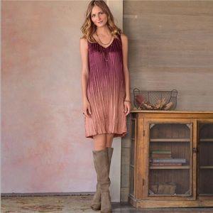 Sundance ombre crinkle dress